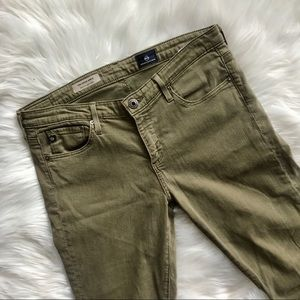 AG Adriano Goldschmied Olive Green Skinny Jeans